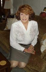 Laurette McGovern, Secretary-For-Hire (Laurette Victoria) Tags: skirt blouse auburn woman laurette secretary