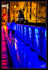 Lightpainting gratuit / Free lightpainting - Le pont de fil / Wire bridge - Tours (christian_lemale) Tags: tours pont fil pontdefil nuit night touraine france nikon d7100