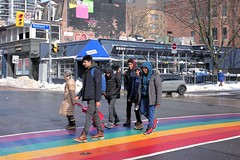 077 -11stpfcrp (citatus) Tags: rainbow crosswalk church street maitland gay village toronto canada winter afternoon 2019 pentax k3 ii
