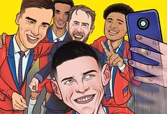 Talented kids | The Sun (Lovatto Ilustrador) Tags: gareth southgate rice winks england national team the sun football lovatto charge illo illustration selfie talented kids london uk united kingdom