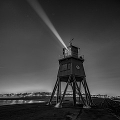 Groyne Lighthouse, South Shields (solidtext) Tags: groyne lighthouse south shields mono blackandwight river tyne stars