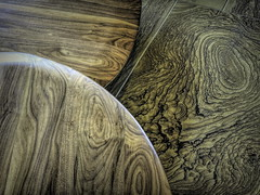 Shades of Brown (clarkcg photography) Tags: smileonsaturday shadesofbrown wood woodgrain brown color stripe swirls layers steps