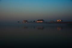 mirage (shanahands2) Tags: dawn mist sea river deben felixstoweferry suffolk nikon d750 houses martellotower landscape seascape fx