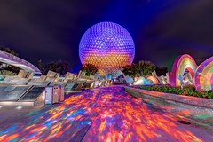Spaceship Earth (B-Martin Photography) Tags: canon6d canon sse nightphotography longexposure disneyphotography wdw epcot spaceshipearth