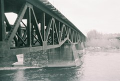 0truber_0Truber-R7-004-0A (aspininaspiritcar) Tags: 35mm film blackandwhite newjersey winter disposable ilford nature abandonedbridge abandoned delawareriver phillipsburg