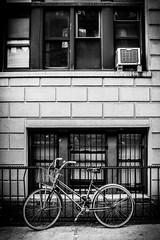 Ride Me (broadswordcallingdannyboy) Tags: nyc ny newyorkcity city usa us america eastcoast newyork copyrightleonreillyphotography light leonreilly eos7d eflens cityscape canon winter newyorkwinter creative lightroom metropolis iconic february2019 donotcopy newyorkstateofmind newyorkminute bw mono blackandwhite mood atmosphere dramatic nycbw newyorkcitybw bike upperwestside rideme cycle pushbike brownstone street nycstreet nystreet leonreillyphotography
