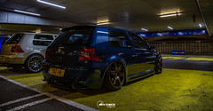 IMG_4489 (RevCheck Photography) Tags: car vehicle transport vw volkswagen r32 golf underground park light lighting shadow colour highlights reflection shine