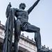 A warrior follows goddess Nike to victory