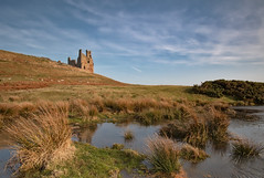 Castellum (lynneberry57) Tags: coast dunstanburghcastle northumberland castle ruins sky clouds reflection landscape canon 70d leefilters nature light old nationaltrust