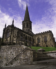 To A higher place (pygarian_nox) Tags: bakewell derbyshire church all saints sky steps