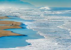 Walking the Dog (pixelmama) Tags: oceanbeach california sanfrancisco beach surf bigwaves walkingthedog pacificocean ocean goldengatenationalrecreationarea nationalparkservice nps ggnra sanfranciscocounty nikond610 nikon