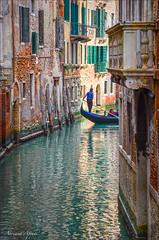 Venezia, inverno 2015. Venice, winter 2015 (adrianaaprati) Tags: città winter2015 water canal city gondola gondolier man buildings venice venezia
