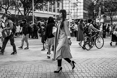 Perfect Posture Princess Proudly Posing (burnt dirt) Tags: asian japan tokyo shibuya station streetphotography documentary candid portrait fujifilm xt1 bw blackandwhite laugh smile cute sexy latina young girl woman japanese korean thai dress skirt shorts jeans jacket leather pants boots heels stilettos bra stockings tights yogapants leggings couple lovers friends longhair shorthair ponytail cellphone glasses sunglasses blonde brunette redhead tattoo model train bus busstation metro city town downtown sidewalk pretty beautiful selfie fashion pregnant sweater people person costume cosplay boobs