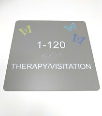 2/90 FlxSign (2/90 Sign Systems) Tags: 290 sign signs signage systems wayfinding facility modular 290signsolutions flxsign flex safety education ada braille flexible school gray taupe butterfly
