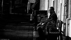 The Transfer (Neil. Moralee) Tags: neilmoralee neilmoraleehoniton man street old mature cine film transfer digital shadow shadows sitting candid black white bw bandw blackandwhite mono monochrome nikon d7200 neil moralee contrast photography