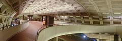 Curves ahead (Tim Brown's Pictures) Tags: washingtondc metro metrostation architecture subway emptystation interior ceiling panorama washington dc unitedstates