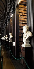 Beautiful Long Room in Trinity Library (MargrietPurmerend) Tags: ireland dublin trinity library bookofkells statues buste