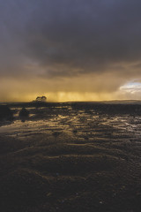 storm in the horizon !!! (adilemoigne) Tags: bretagne brittany storm horizon finistère rade de brest pluie sunset beach arbre ilot ile château
