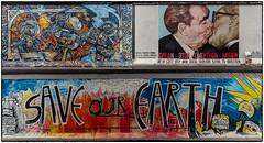 East Side Gallery (Collage) (Jutta Achrainer) Tags: juttaachrainer fe1224mmf4g sonyalpha7riii berlin eastsidegallery berlinermauer graffiti