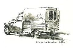 2cvaks400_2 (sylvain.cnudde) Tags: citroen 2cv citroen2cv vehicle sketch usk uskparis urbansketch drawing dessin croquis