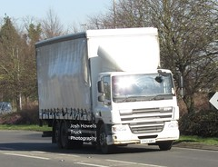 FP12 NMY at Welshpool (Joshhowells27) Tags: lorry truck daf cf dafcf unmarked curtainsider fp12nmy
