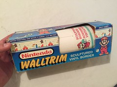 North American Decorative Products Super Mario Bros Nintendo Wall Trim 03 (gamescanner) Tags: north american decorative products super mario bros nintendo wall trim covering walltrim decor sculpted vinyl border upc 058559709011 058559709035 rosewall inc 1989 sku 70902