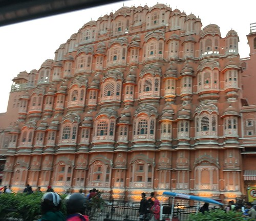 Wind Palace, Jaipur (from the car)