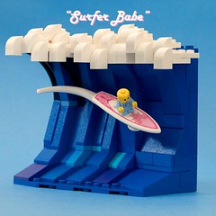 """Surfer Babe"" (ted @ndes) Tags: vignette springbrick2019 bam louisville moc lego humor surfing baby photo contest"