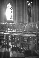 Cathédrale Sainte-Croix - Orléans (Christophe Laakmann) Tags: flickrtravelaward voigtlander 35mm lumiere blackwhite bw rangee chaise eglise flickrunitedaward white black light church chair orléans city leica