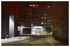Christmas night (haidem3) Tags: sovietarchitecture urban street blocks ghetto winter snow night architecture buildings