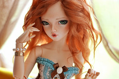 Fire Girl (Shimiro Doll Photography) Tags: girls cute kawaii portrait nikon photography balljointeddoll abjd bjd doll toy toyphotography dollphotography bjdphotography minifee msd minifeechloe mnfchloe fairyland