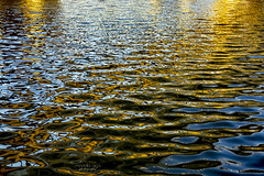 during sunset ... (mariola aga) Tags: sunset lake water surface ripples reflections patterns distortions abstract art