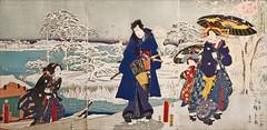 La rivière Sumida en hiver (musée des arts décoratifs, Paris) (dalbera) Tags: dalbera paris france muséedesartsdécoratifs mad estampejaponaise hiver hiroshigeii kunisadai