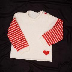 Girl's jumper (Winterbound) Tags: knitting handmade handknitted jumper woolly wool