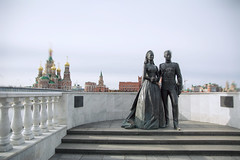 Monument of Grace Kelly and Prince Rainier III of Monaco (Jess Aerons) Tags: city magic perfect panoramic rchitects building theatre beautiful russia cityscape embankment guide tower palace sky reflection russian el night traveling water yoshkarola quality exposure background castle rainier church best clouds skyline kelly long monaco tourist street grace national cathedral lights architecture prince art puppet awesome cloudy sunset brugge mari river