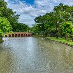 Lake and bridge in Chatuchak park, Bangkok, Thailand thumbnail