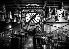 Cafe (judepics) Tags: musee dorsay cafe clock france lights paris monochrome blackwhite