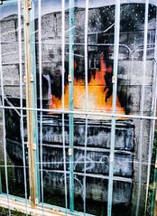 Banksy behind bars - Port Talbot. (darrenbye@yahoo.co.uk) Tags: banksy industry pollution bars artwork