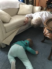 """Dani and Grandma Shirley Look for Maggie Under the Couch • <a style=""""font-size:0.8em;"""" href=""""http://www.flickr.com/photos/109120354@N07/46055367595/"""" target=""""_blank"""">View on Flickr</a>"""