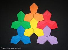Hexagons tessellation (mancinerie) Tags: origami paperfolding papiroflexia papierfalten tessellation hexagons francescomancini mancinerie
