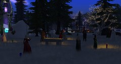 Avilion - Druid Yule Ceremony (Osiris LeShelle) Tags: secondlife second life avilion medieval fantasy roleplay sim winter snow druid druidry druids yule ceremony big meadow gathering