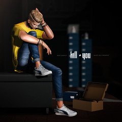 What doesn't kill you makes you stronger (Satuex Resident) Tags: man dude guy gay male men twink teen teenager blond secondlife virtusl versov jeans pants trainers snekaers shirt backdrop davidheather shop store bleich pose wrong bracelets bento mesh fashion