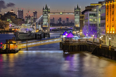 Love of my life (Tower Bridge, London, United Kingdom) (AndreaPucci) Tags: london towerbridge thames canarywharf sunrise hmsbelfast pier andreapucci