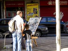 2721  El pintor (Ricard Gabarrús) Tags: arte artista pintura pintor street ricardgabarrus olympus ricgaba robado