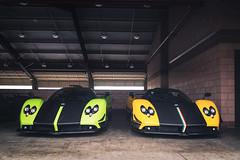 Twenty Years (Noah L. Photography) Tags: pagani zonda cinque green lime light yellow carbon fiber car sportscar supercar hypercar roadster convertible italian ocfestivalofspeed ocfos fontana