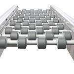 Roller and belt conveyor systemの写真