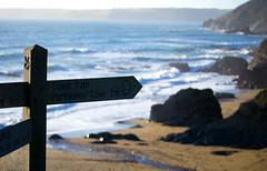 Porthluney Cove (Peaf79) Tags: porthluneycove england nationaltrust sign water beach sea cornwall