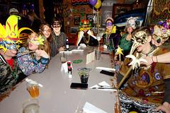 Mardi Gras (Fitzsimmons Photography (FitzPhoto)) Tags: mardigras dockside resturant tikibar celebrate people sitting fun dressup