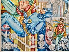 Christian Montone - Vaudelesque Tree: Gotham (Work In Progress) (Christian Montone) Tags: art gayart queerart gay queer watercolor pencil drawing painting mixedmedia batman robin batmanandrobin batman1966 1966 1960s 60s vintage burtward adamwest christianmontone montone workinprogress nyc timessquare oldnewyork billboards vintagetimessquare newyork newyorkcity gothamcity