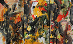 Underground (triptych) (Martin Hoogeboom) Tags: acrylic painting paper depression mental health depressie acryl art